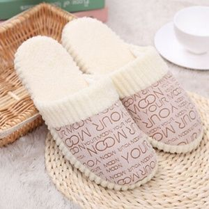 Soft Plush Beige Slippers